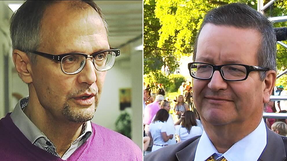De båda S-märkta statsvetarna Ulf Bjereld och Stig-Björn Ljunggren.