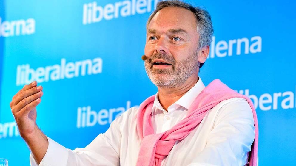 Jan Björklund, Folkpartiets partiledare.