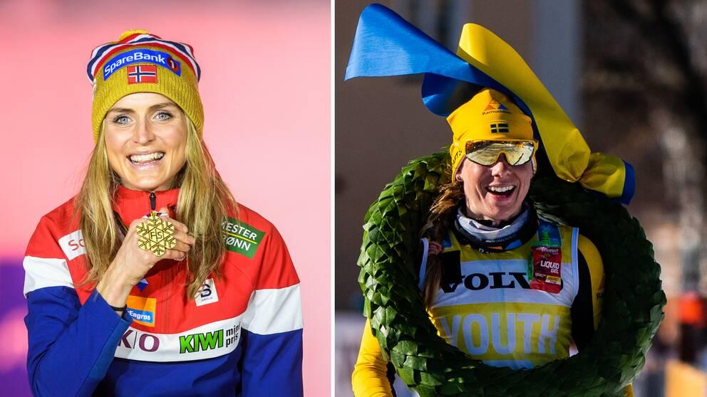 Therese Johaug och Lina Korsgren.
