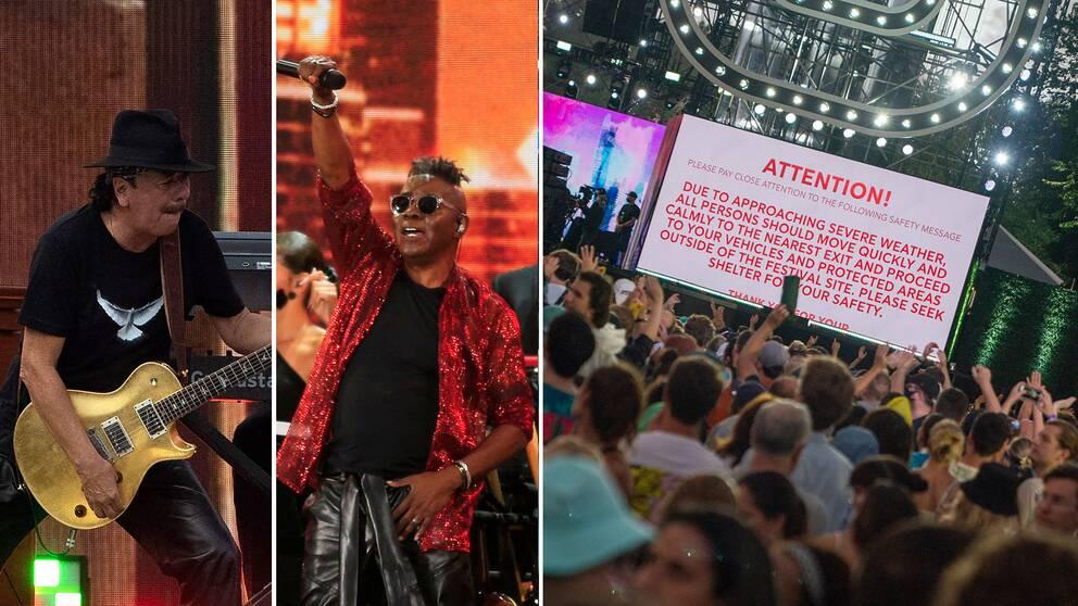 """""""The Homecoming Concert"""" i New York tog sig igenom hälften av kvällens artister innan evenemanget fick avbrytas på grund av storm."""