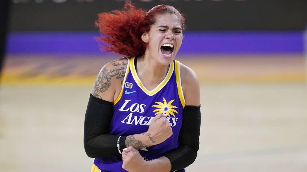 Amanda Zahui gör sin sjunde säsong i WNBA.