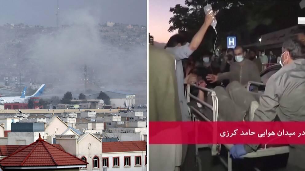 Vid torsdagens självmordsattentat intill flygplatsen i Kabul dödades flera människor.