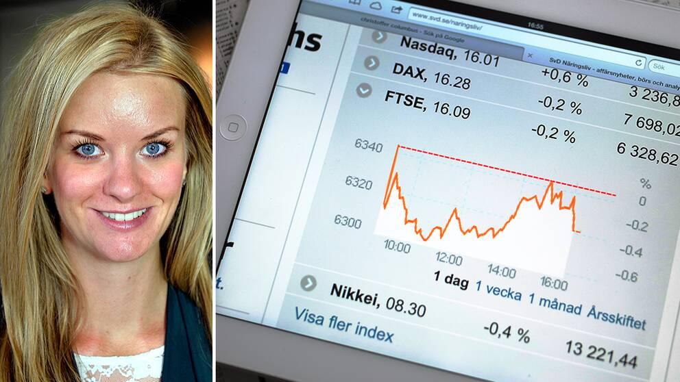 Maria Landeborn, sparekonom på Skandia, tycker inte att man ska drabbas av panik trots de stora börsrasen i framför allt Asien.