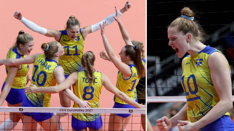 Sverige är klart för kvartsfinal i EM.