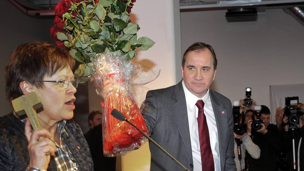 Stefan Löfven fick pressas hårt innan han tackade ja till jobbet att ta över S. Bilden är tagen i januari 2012, då Stefan Löfven valdes till ny partiledare.