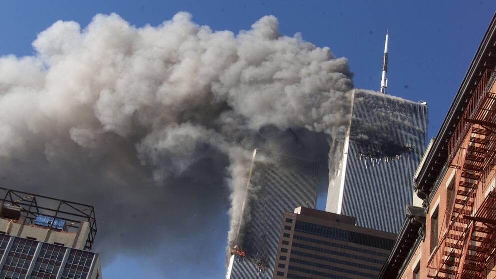 World Trade Center under attacken den 11 september 2001.