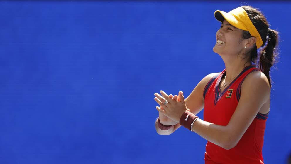 Emma Raducanu är vidare till sin första grand slam-semifinal.