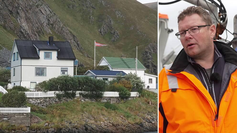 Hus på norska landbygden och fiskaren Kurt Nilsen.