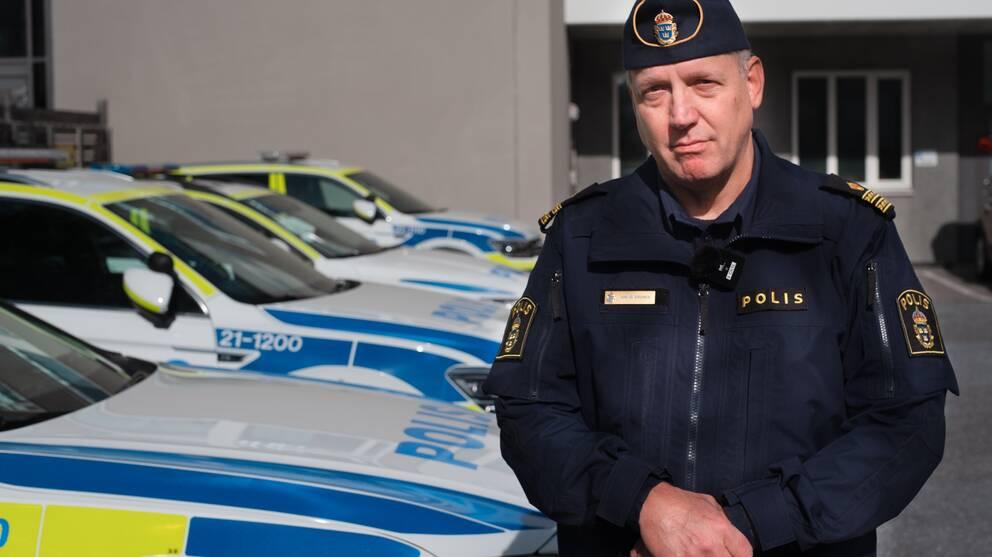 Jonas Eronen, presstalesperson vid Uppsalapolisen.