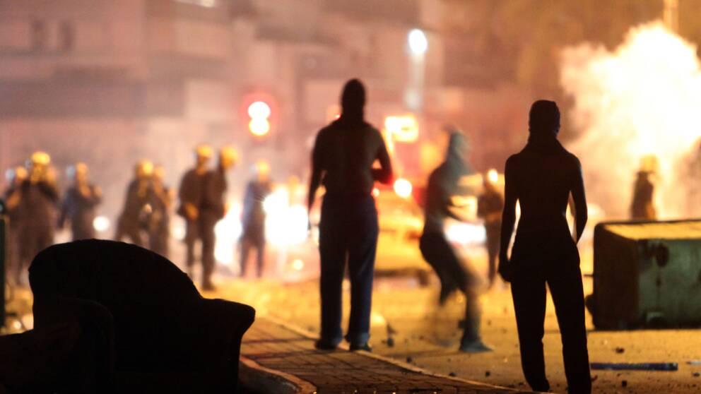 Protester i Bahrain.