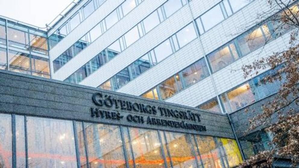 Bild på entren till Göteborgs Tingsrätt.
