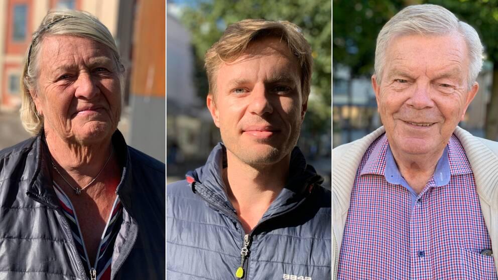 Var sin bild på Birgitta Larsson, Jonas Bremer och Henric Grännö.