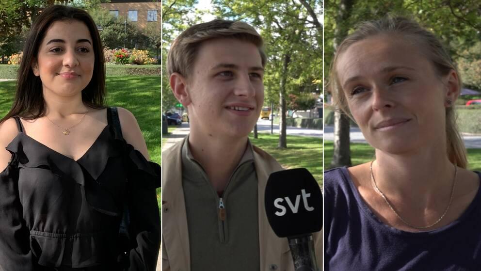 Anna, Carl Hansson Och Rasha Alhussein berättar om tryggheten i Kalmar.