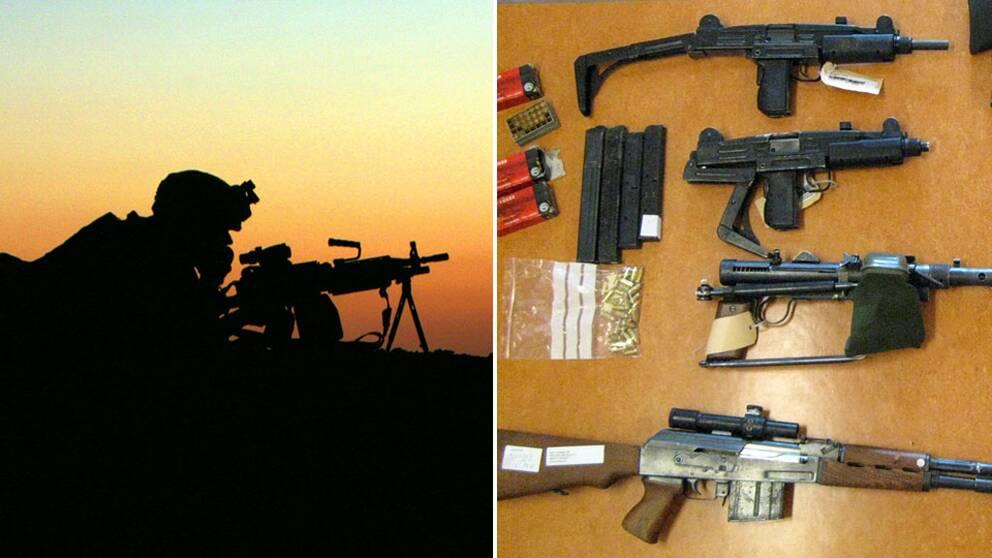 Svenskarna har licens för tusentals automatvapen och handeldvapen. (Vapnen på bilden har inget samband med texten.)