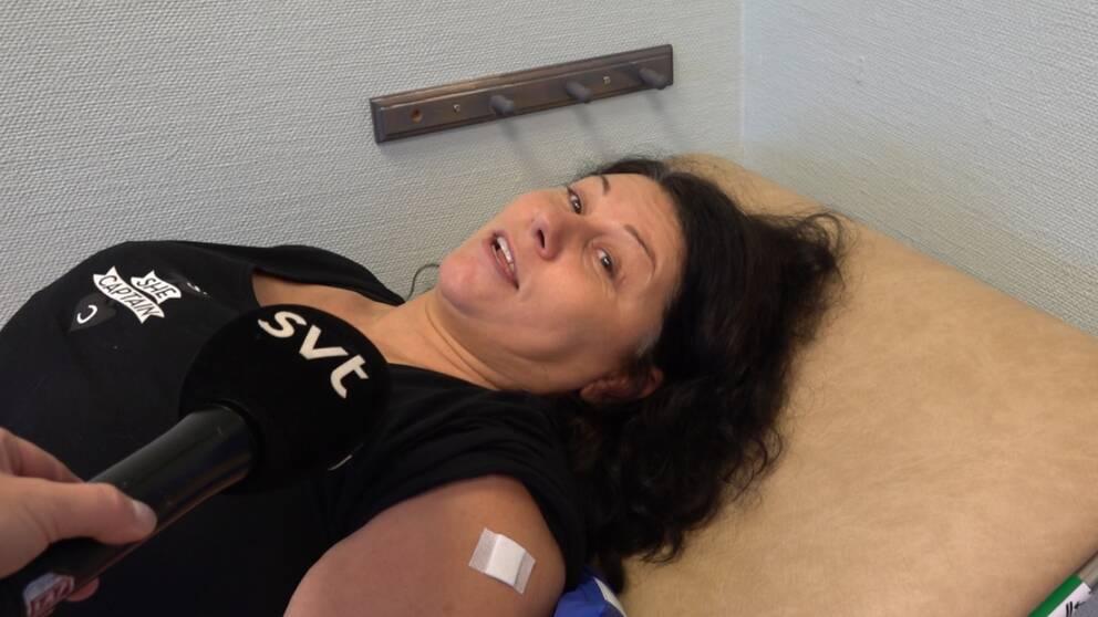 När kassörskan på mataffären tipsade om drop in-vaccination på hälsocentralen åkte Sofie Söderling direkt upp och tog sprutan – innan hon hann ångra sig.