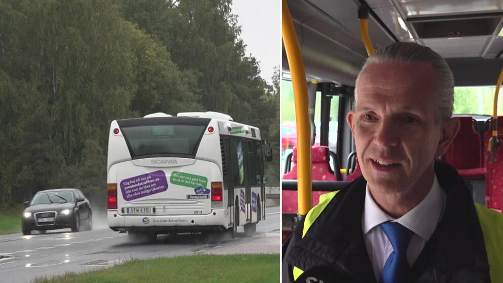 Sören Lindén är bussförare och utbildare på Svelandstrafiken.