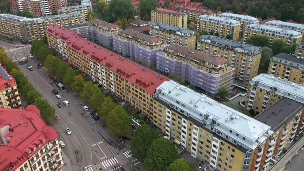 Övre Husargatan i Göteborg.