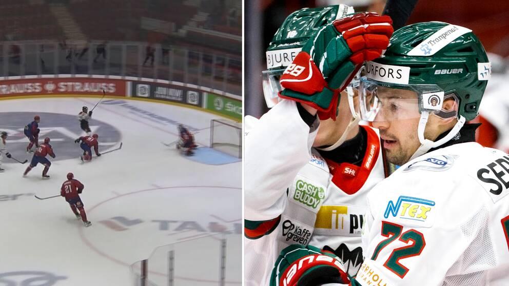 Patrik Carlsson var inblandad i alla FHC-mål.
