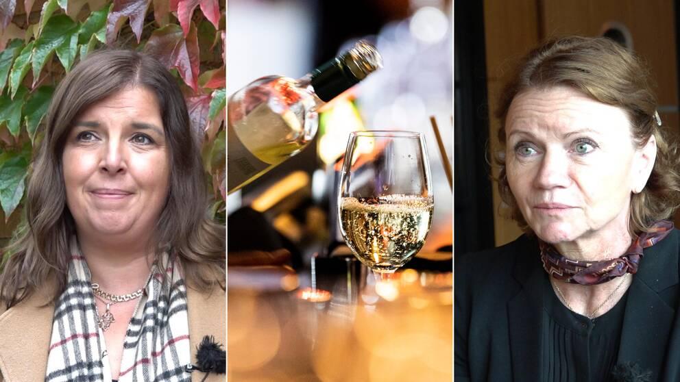 Linda Lövstrand, Trygghetsfonden TSL och Elisabeth Haglund VD på Hotell Tylösand