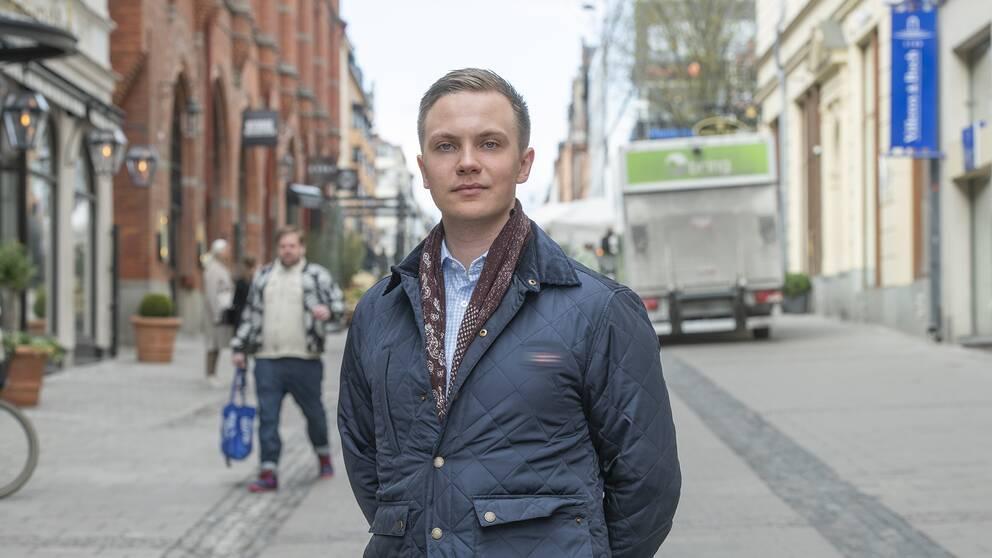 Tobias Andersson, förbundsordförande Ungsvenskarna.