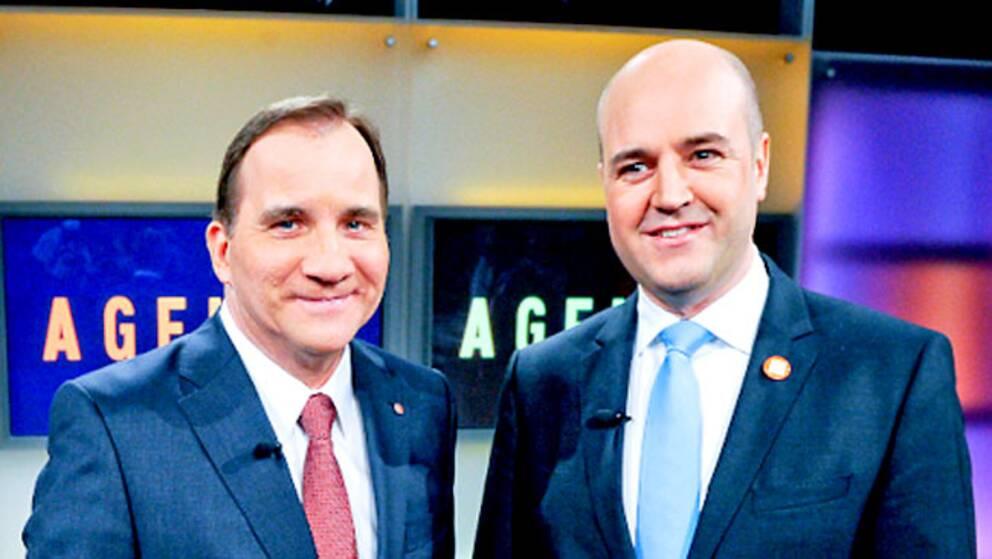 Stefan Löfven (S) och Fredrik Reinfeldt (M)