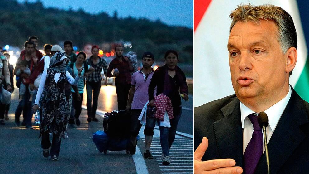 Ungerns premiärminister Viktor Orbán vill använda armén för att stoppa flyktingar.