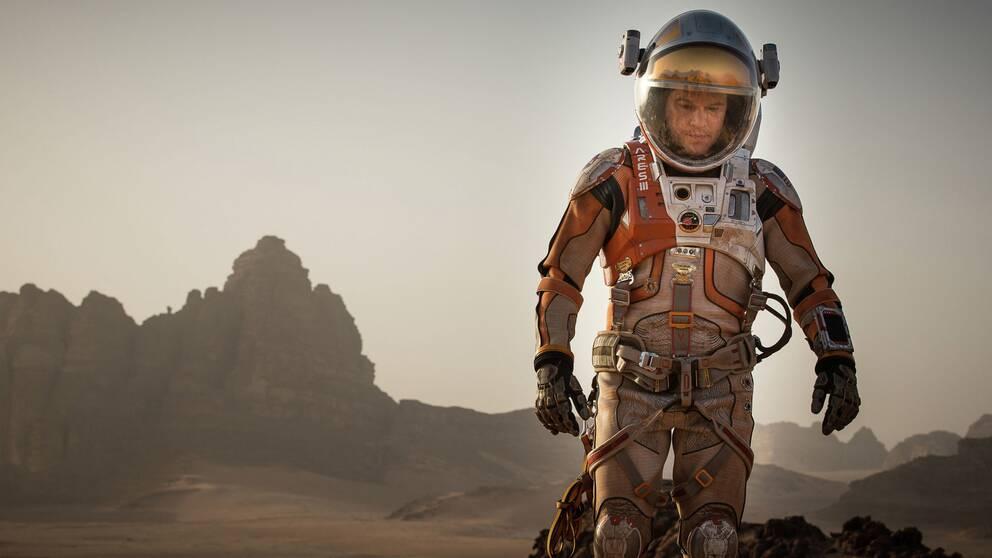 """Matt Damon som ofrivillig marsmänniska i Ridley Scotts """"The Martian"""" som premiärvisas i Toronto."""