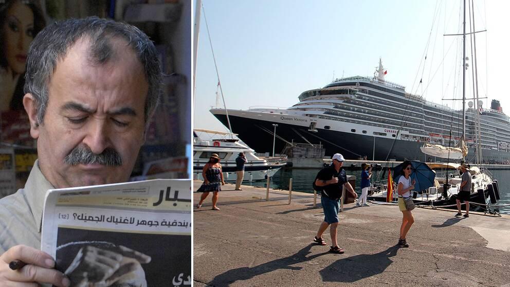 En libanesisk tidning sprider ryktet om att Sverige ska hämnta flyktingar med lyxkryssare