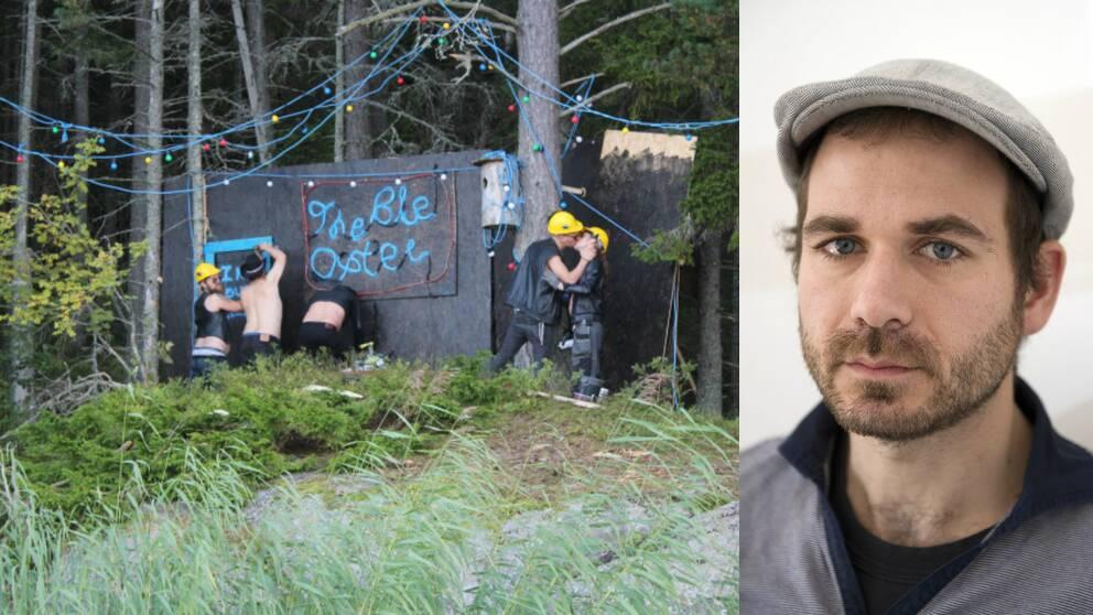 Svenska hiphop-duon Far & Son har tillbringat helgen i Saltvik för att bygga en gayklubb på rysk mark.