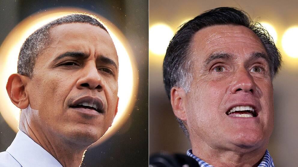 Barack Obama och Mitt Romney