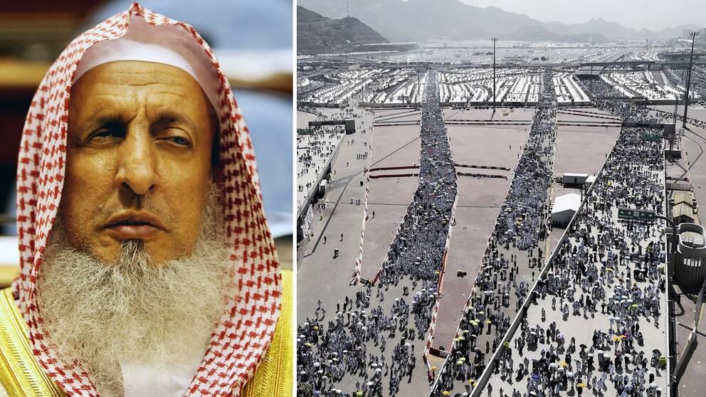 Saudiarabiens högste religiöse ledare, stormuftin Abdul Aziz al-Sheikh..