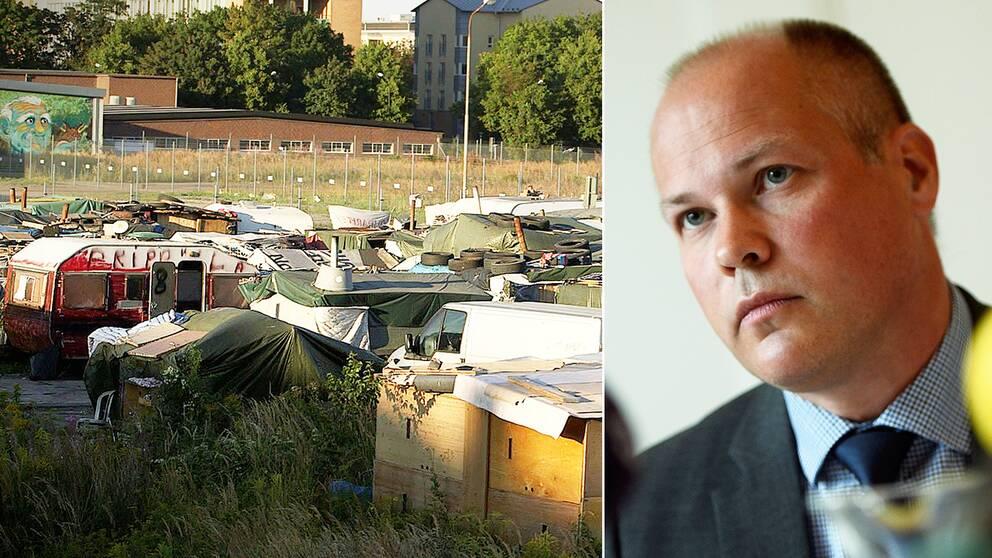 Efter Uppdrag gransknings avslöjande om ett stort migrantläger i Malmö vill regeringen nu göra det lättare för markägare att avhysa EU-migranter.