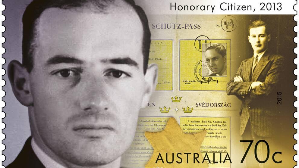 Raoul Wallenberg hedras med ett frimärke i Australien