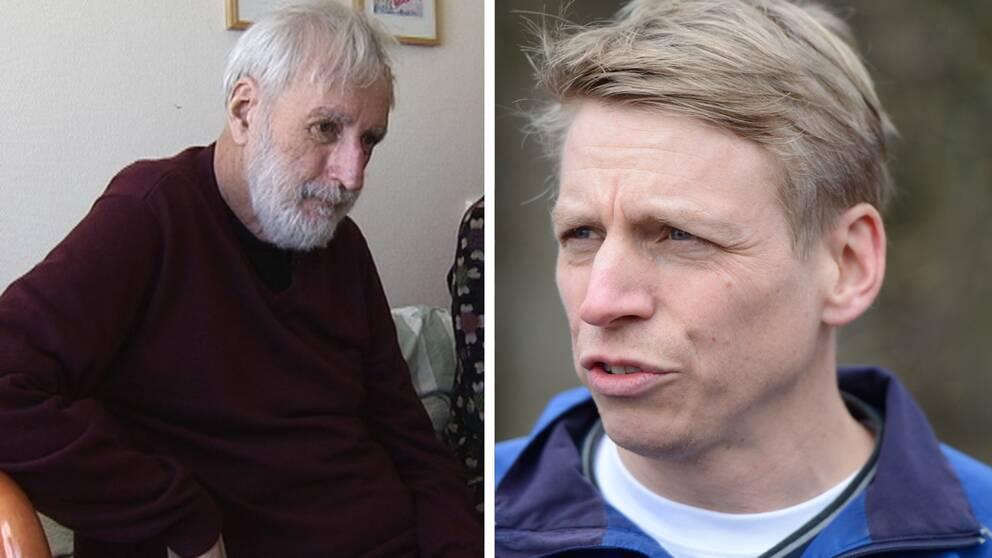 Göran Andolf (tv) och konsumentminister Per Bolund (MP).
