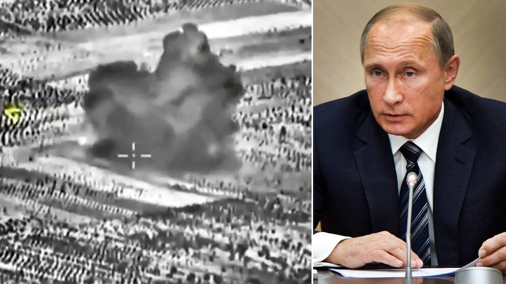 Putin i morse usas anfall ar ett misstag