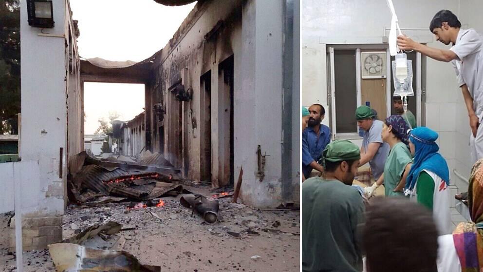 Läkare utan gränsers akutsjukhus i Kunduz efter bombningarna