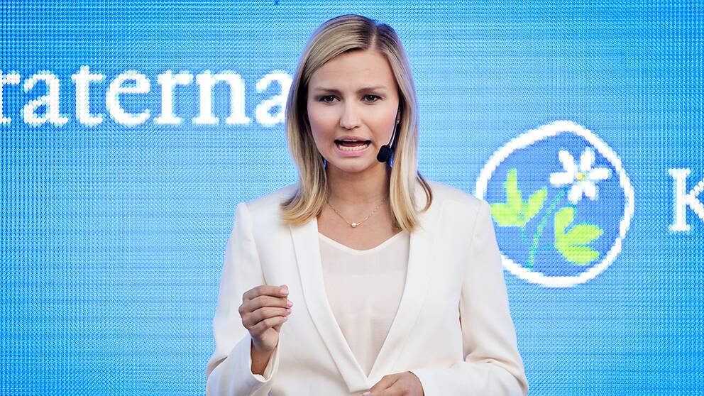 KD:s partiledare Ebba Busch-Thor
