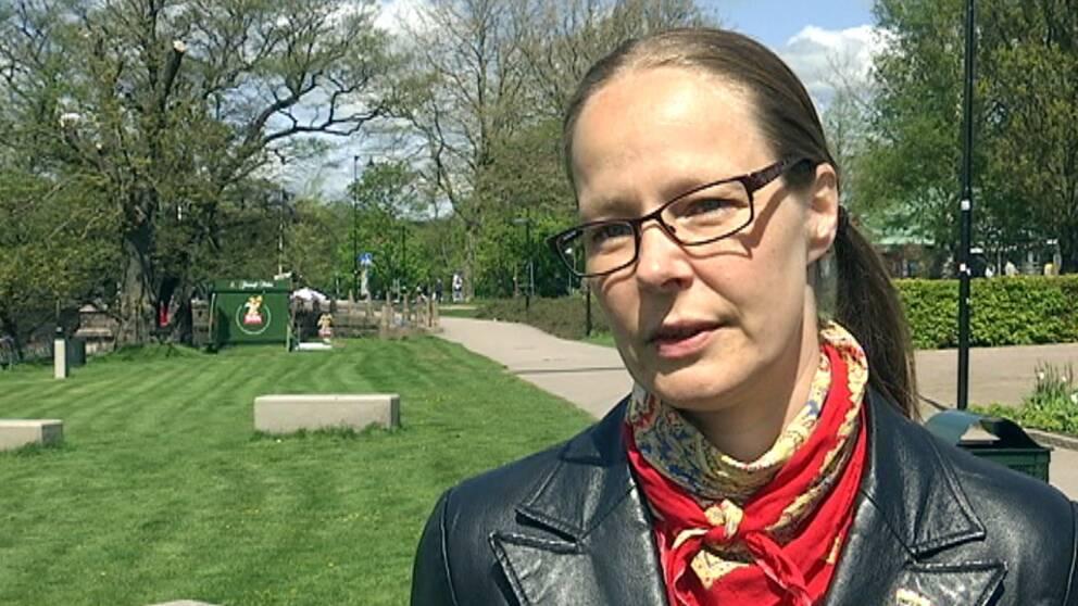Linda Bjerman, ordförande för Halmstad Pride
