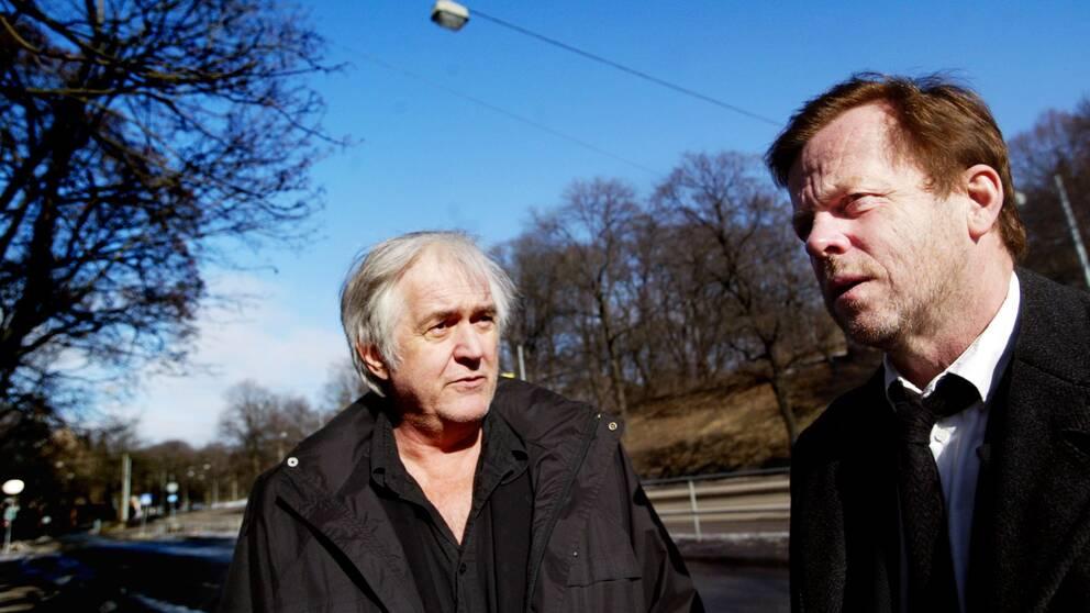2004: Författaren Henning Mankell tillsammans med skådespelaren Krister Henriksson.