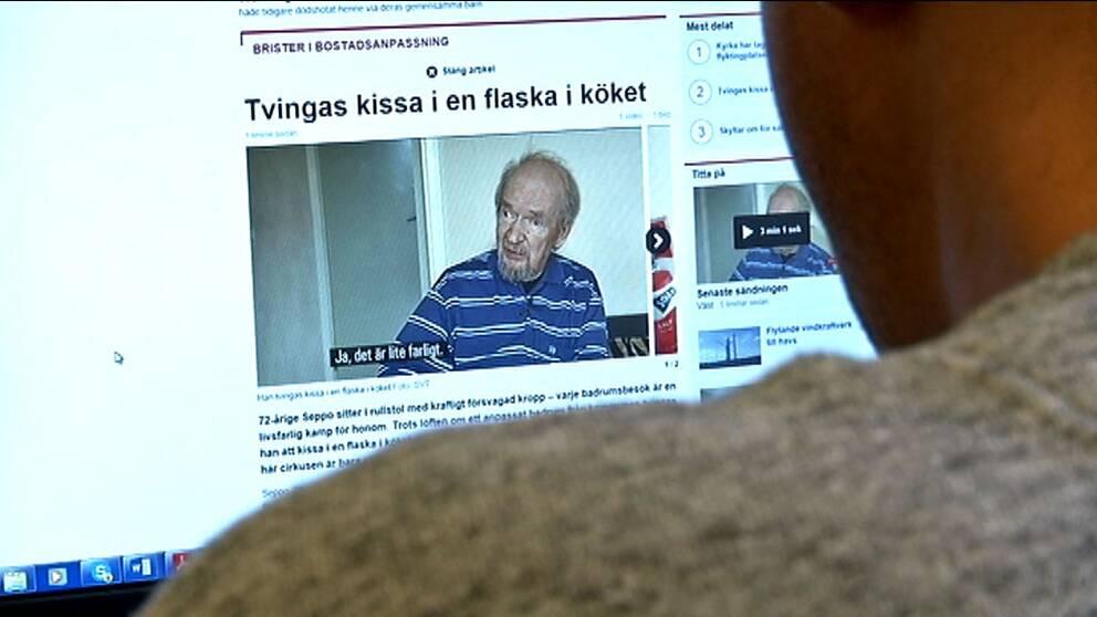 Det kommer starka reaktioner efter SVT Nyheter Västs inslag om rullstorsburne Seppo.