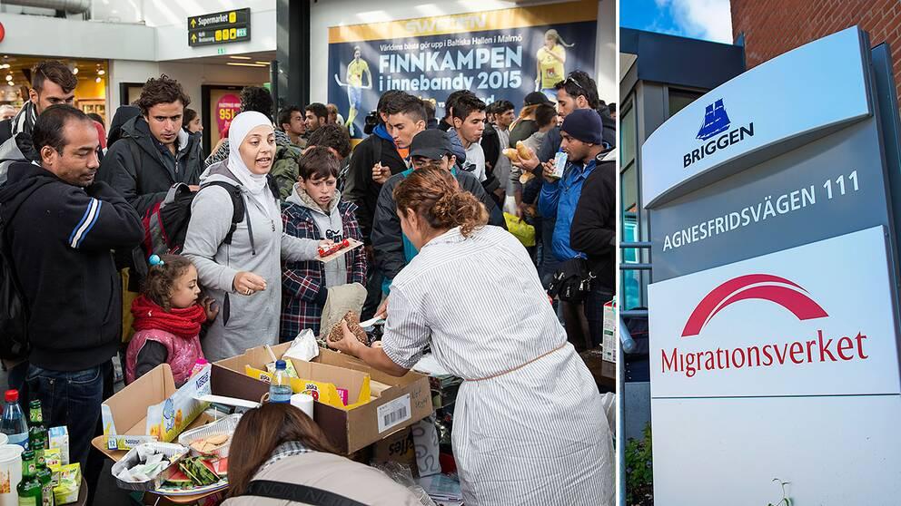 Nyanlända flyktingar i Malmö får hjälp av volontärer.