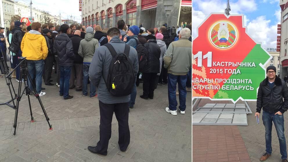 Valobservatorer gripna i vitryssland