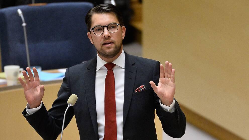 Jimmie Åkesson, partiledare (SD).