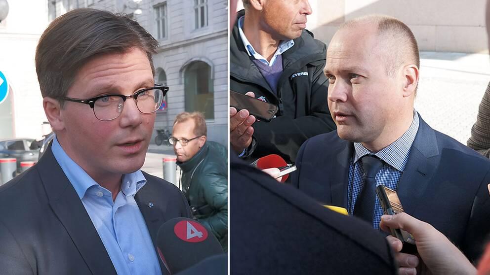 Folkpartiets gruppledare Erik Ullenhag och migrationsminister Morgan Johansson (S) var båda nöjda efter mötet, men några konkreta förslag ville de inte nämna.