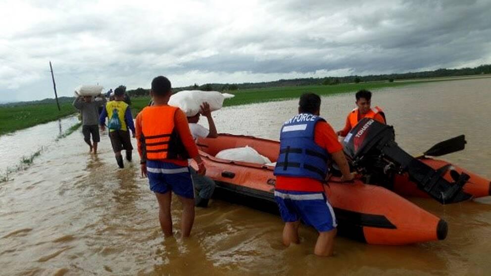 Usa stoppar hjalp till filippinerna