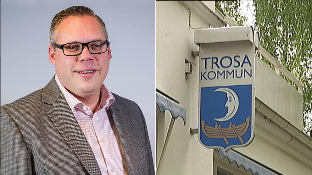 Daniel Portnoff (M) är kommunalråd i Trosa.