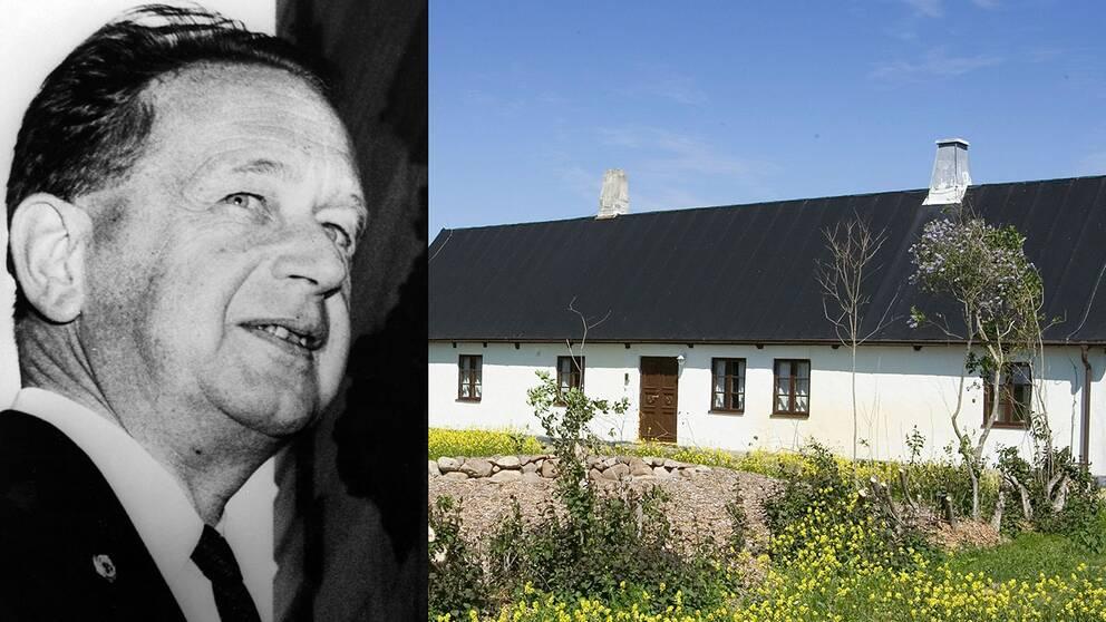 Dag Hammarskjölds gård Backåkra utanför Ystad.