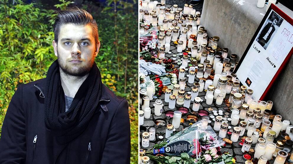I dag kommer en tyst minut hållas klockan 14, bakom uppropet står Robin Mashallah, som är född och uppvuxen i Trollhättan. När nyheten om attacken mot skolan kom befann han sig i Stockholm, där han bor nu.