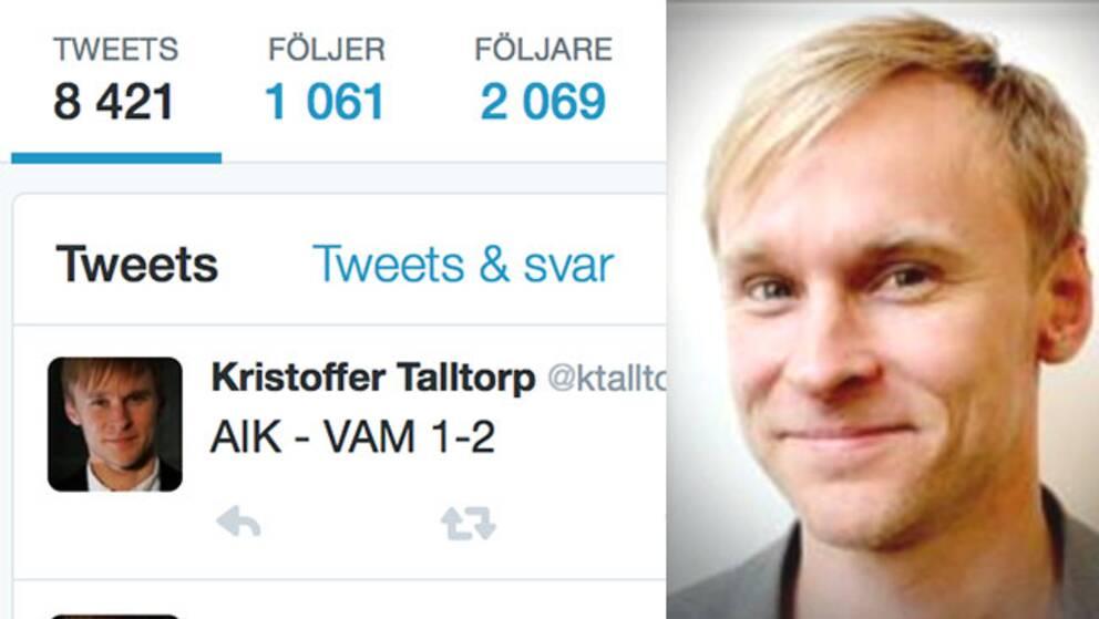 Kristoffer Talltorps tweet