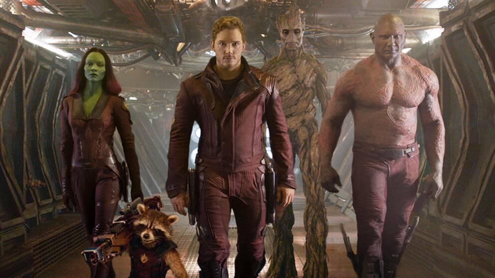 """De okonventionella rymdhjältarna i """"Guardians of the Galaxy"""" från 2014."""